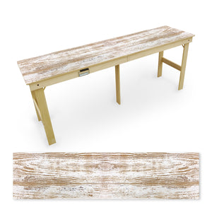 Country Living Rustic White Faded Tailgate Table