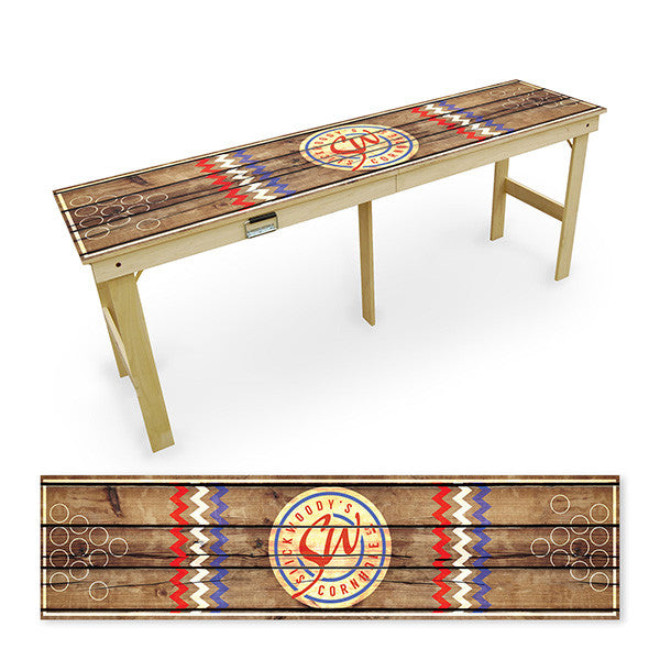 rustic beer pong table