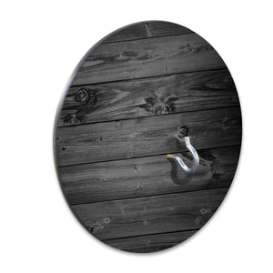 Country Living Hook & Ring Game with Rustic Black Plank Wood Design