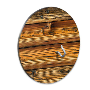 Country Living Hook & Ring Game with Rustic Charred Wood Design