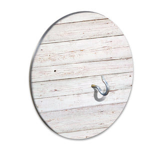Country Living Hook & Ring Game with Rustic White Wood Design