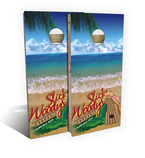 Bikini Surf Beach Cornhole Board Set