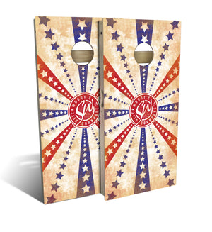 Slick Woody's Stars and Stripes Cornhole Board Set
