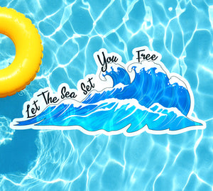 Let The Sea Set You Free Underwater Pool Mat Tattoo