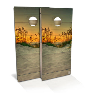 Sea Oats Cornhole Board Set