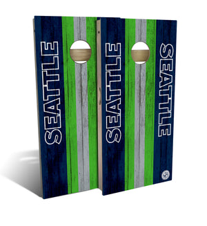 cornhole board set with Seattle Seahawks football design