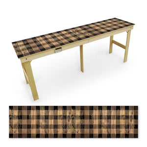 Country Living Black Checker Pattern Tailgate Table