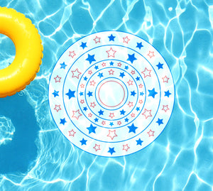 Stars & Stripes Circle Underwater Pool Mat Tattoo