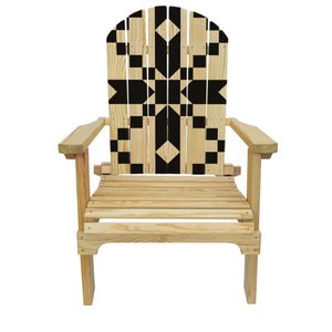 Country Living Stepping Stones (Black) Quilt Adirondack Chair