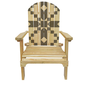 Country Living Stepping Stones (Grey) Quilt Adirondack Chair