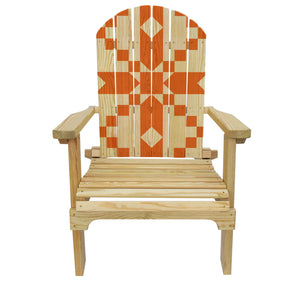 Country Living Stepping Stones (Orange) Quilt Adirondack Chair