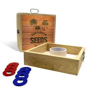 Country Living Sunflower Seed Crate Washer Toss Game