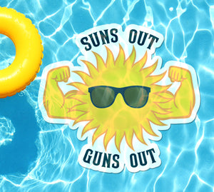 Suns Out Guns Out Underwater Pool Mat Tattoo