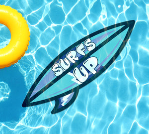 Surfs Up (Blue) Underwater Pool Mat Tattoo