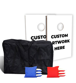Custom Tailgate Cornhole Set Bundle (Includes Carry Bag & Pro Bags)