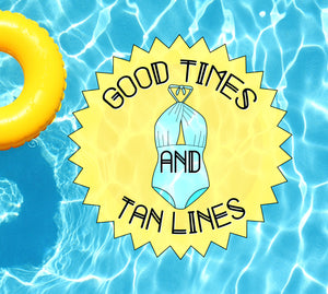 Good Times And Tan Lines Underwater Pool Mat Tattoo