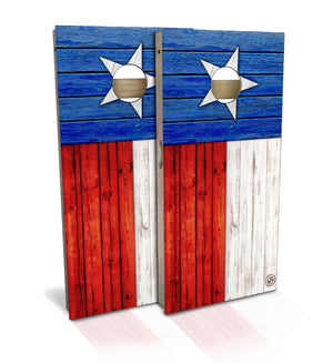Texas State Flag Cornhole Board Set