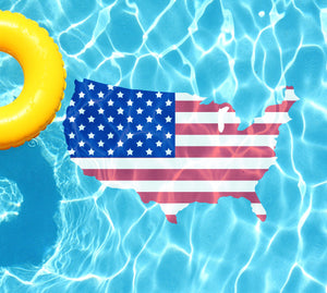 USA Flag Underwater Pool Mat Tattoo