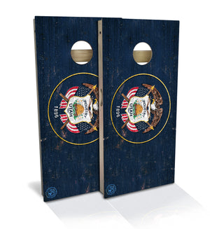 Utah State Flag Cornhole Board Set