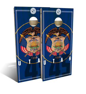 Utah State Flag 2.0 Cornhole Board Set (includes 8 bags)