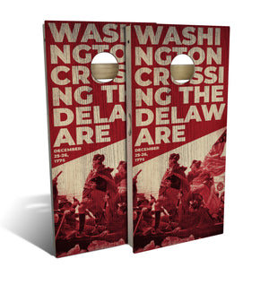 Washington Crossing the Delaware Cornhole Set