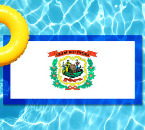 West Virginia State Flag Pool Tattoo