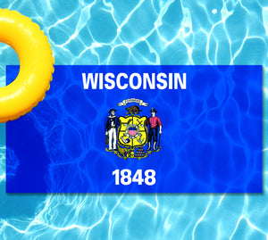 Wisconsin State Flag Pool Tattoo
