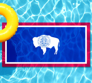 Wyoming State Flag Pool Tattoo