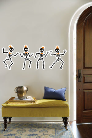 Dancing Skeletons Wall Sticker