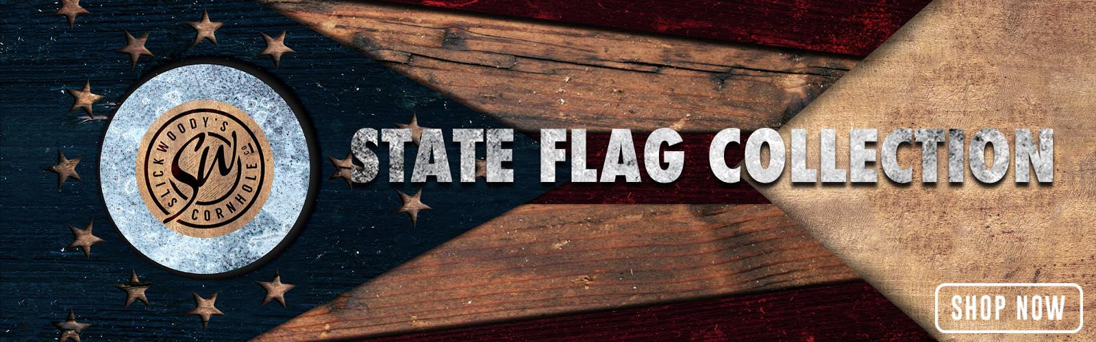 Slick Woody's state flag cornhole boards