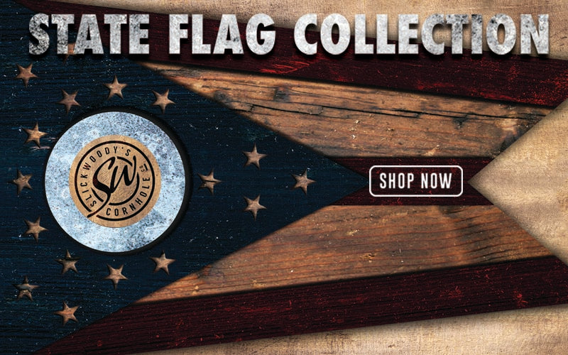 Slick Woodys State Flag Cornhole Boards