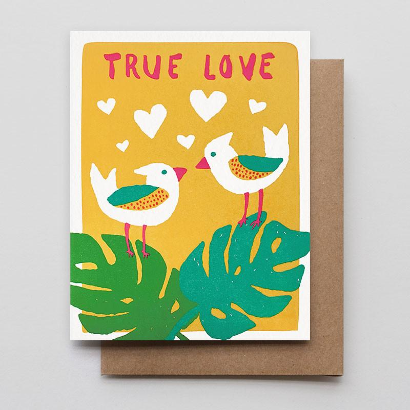 Hammerpress Greeting Card - Love Birds