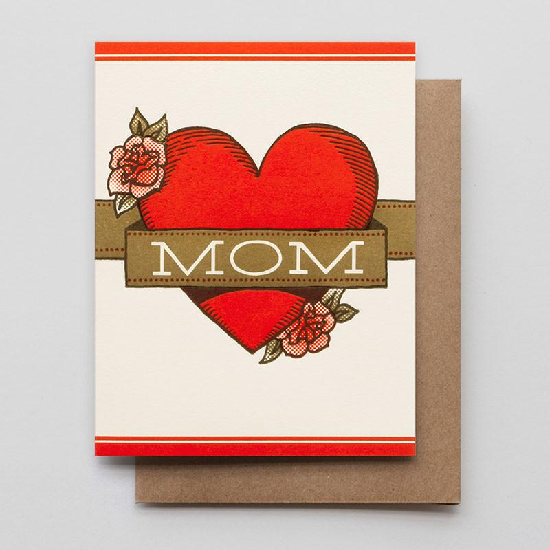 Hammerpress Greeting Card - Mom Heart + Banner