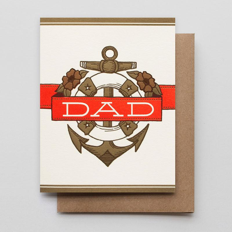 Hammerpress Greeting Card - Dad Anchor + Banner