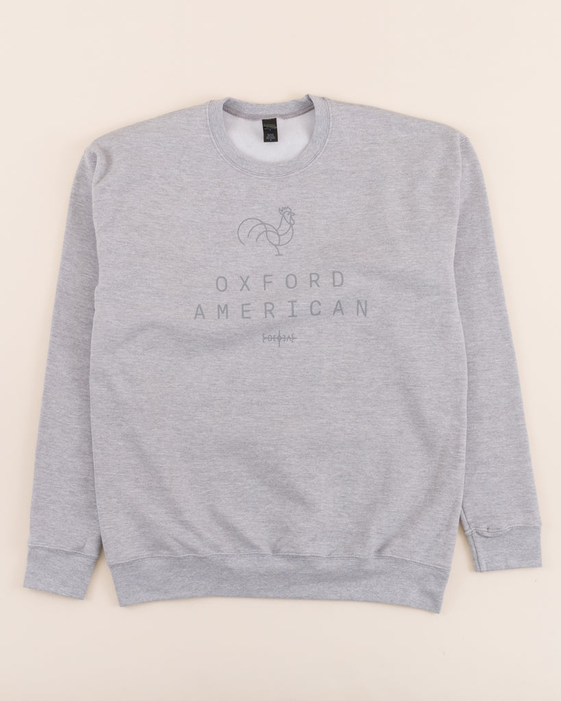 Unisex Rooster Logo Sweatshirt - Heather Grey
