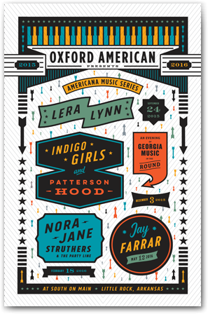 Americana Series 2015 Poster - Live at South on Main