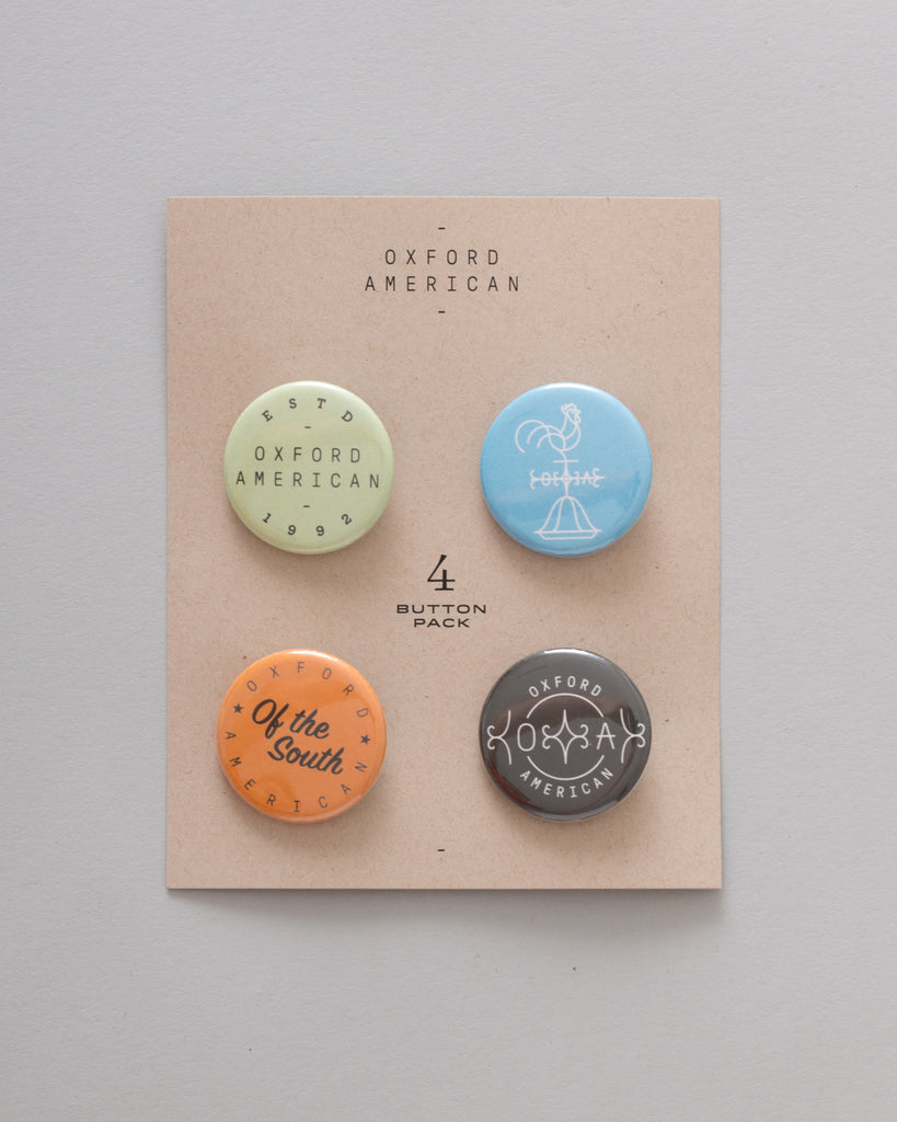 Oxford American Logo Buttons - 4-Pack