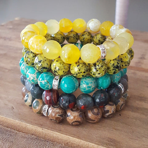 Protection Bracelets by Marinella 10mm stack of 5 different colors