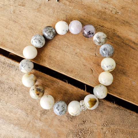 10mm opal gemstone bead quality stretch bracelet