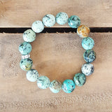 protection bracelet turquoise agate stones 12 mm