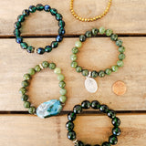 May birthstone emerald green collection