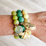 Nature collection gemstone bead stretch bracelets
