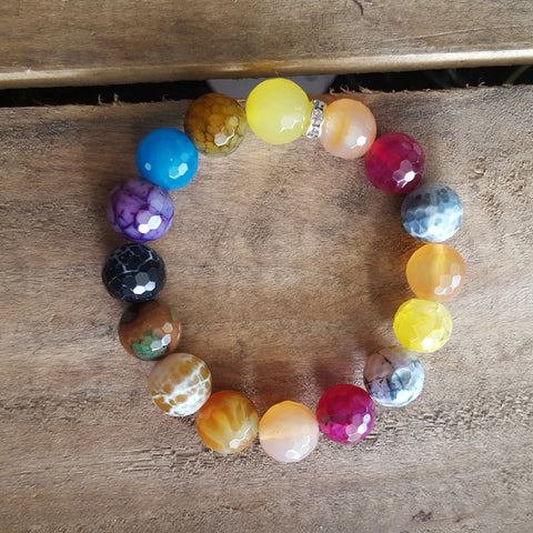 candy color agate Mommy bracelet mommy & me