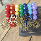 protection bracelets by Marinella jewelry in all colors and chakra charms on a bracelet bar