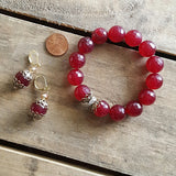 cranberry jade vintage details protection bracelet and earrings