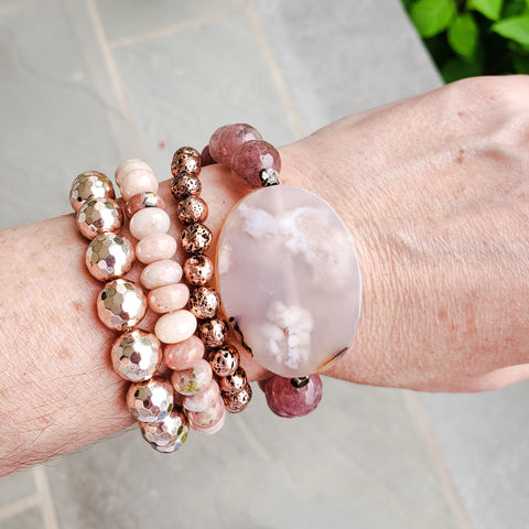 rose gold quality stretch bracelet collection