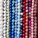 10mm and 12mm gemstone bead color options