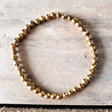 4mm faceted gold hematite quality stretch bracelets