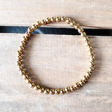 4mm smooth gold hematite quality stretch bracelets