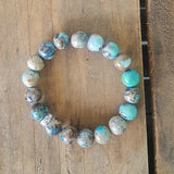 protection bracelets by Marinella 10mm turquoise agate quality stretch